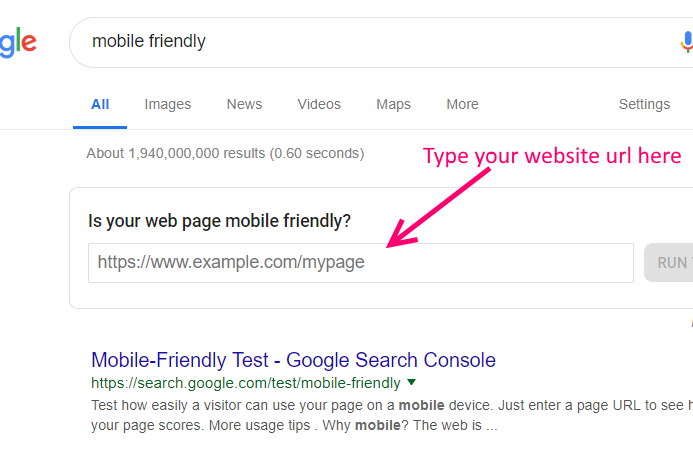 Google mobile friendly checking tools